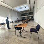 Tareas de sanitización en la sede nacional del Continental